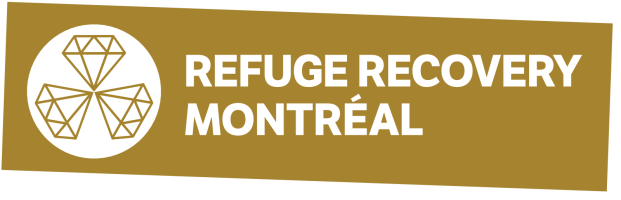 Refuge Montreal Logo - Gold Background